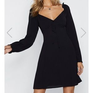 Nasty gal Straight From  Shoulder Fit Flare Dress
